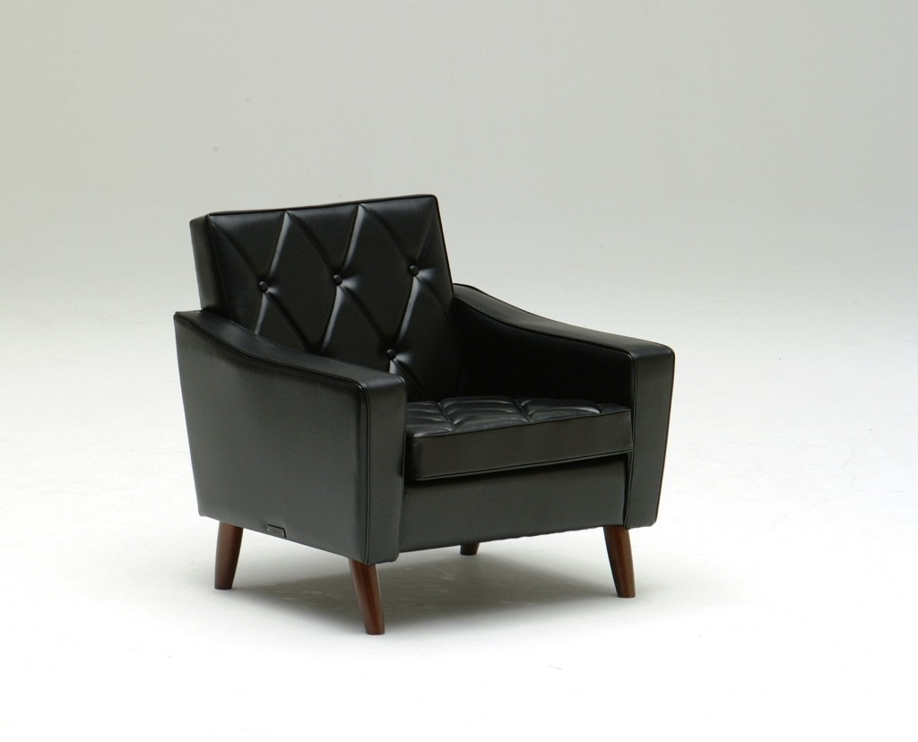 U36210BD Lobby chair_one seater_standard black