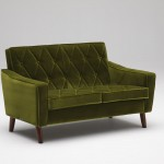 U36212QD Lobby chair_two seater_moquette green