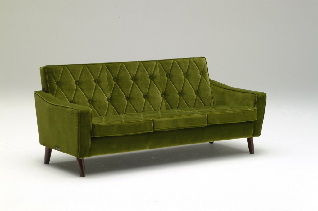 U36213QD Lobby chair_three seater_moquette green