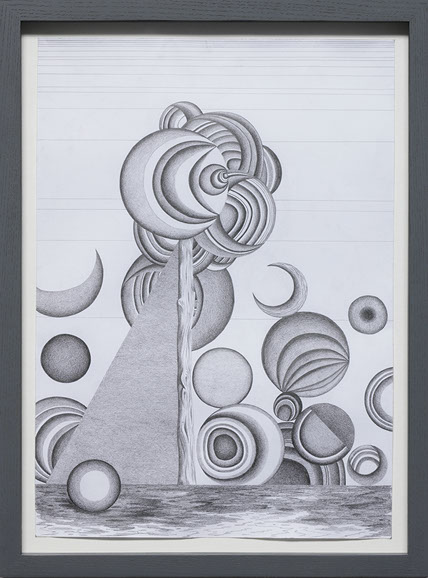 05,the shadow, a3 format, pencil on paper